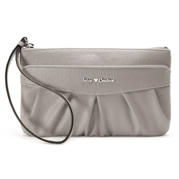 Juicy Couture Handbags - Juicy Couture Ruched Wristlet in Gray Sleet